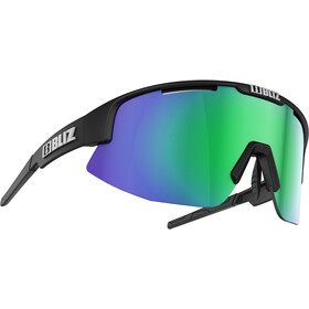 Bliz Matrix M12 Brille, matt black/brown with green multi